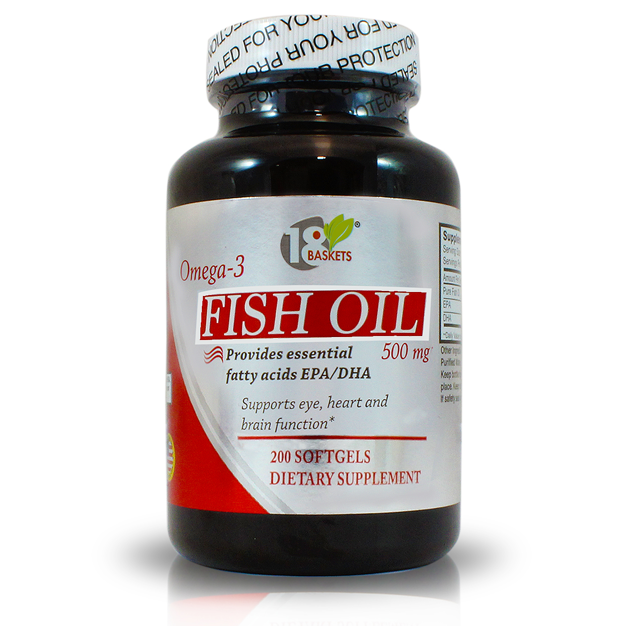 18 basket omega 3 fish oil gmp global marketing inc for Does fish oil lower triglycerides